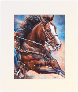 Like the Wind, Matted Print by Lisa Lopuck